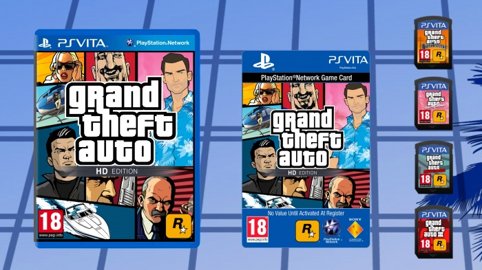 GTA HD Edition PlayStation Vita Box Art Cover by Christos-35