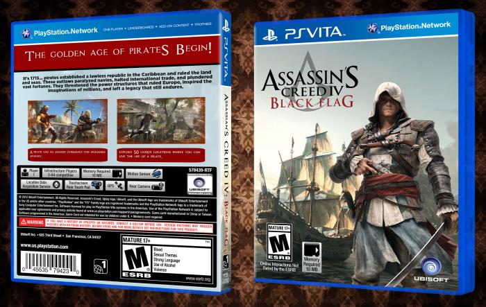 Assassin's Creed IV: Black Flag PlayStation Vita Box Art Cover by ...