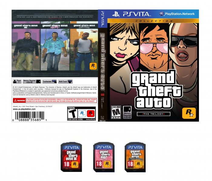 GTA PS Vita PlayStation Vita Box Art Cover by MetalUpYourAss81
