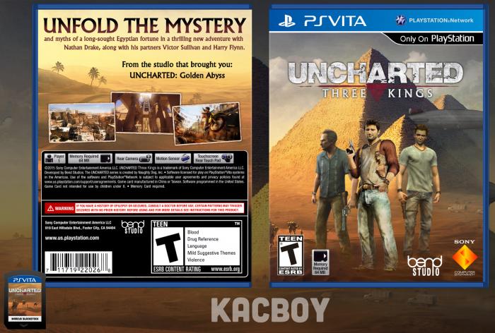 Uncharted Three Kings Playstation Vita Box Art Cover By