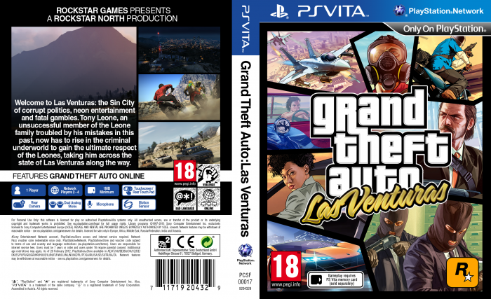 Grand Theft Auto: Las Venturas PlayStation Vita Box Art