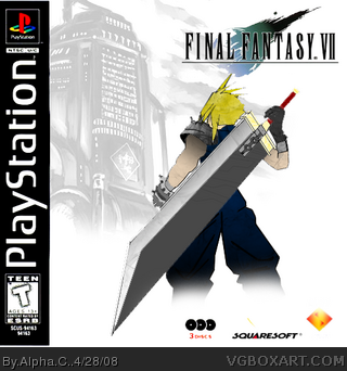 Final Fantasy Vii Playstation Box Art Cover By Alpha C
