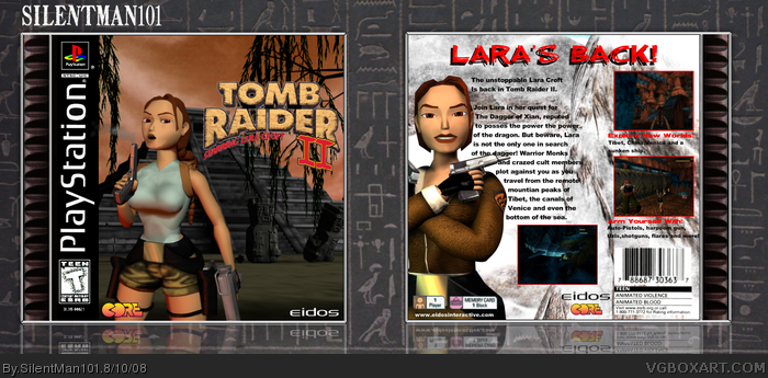 Tomb Raider Ii Playstation Box Art Cover By Silentman101