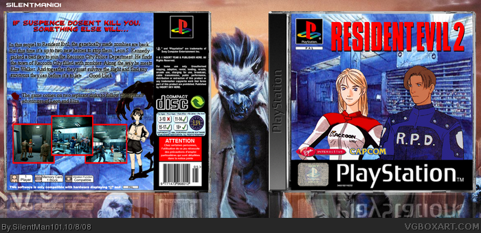 resident evil 2 ps1 box art
