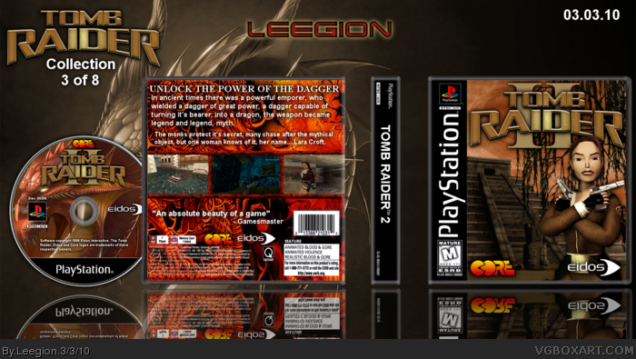 Tomb Raider Ii Playstation Box Art Cover By Leegion