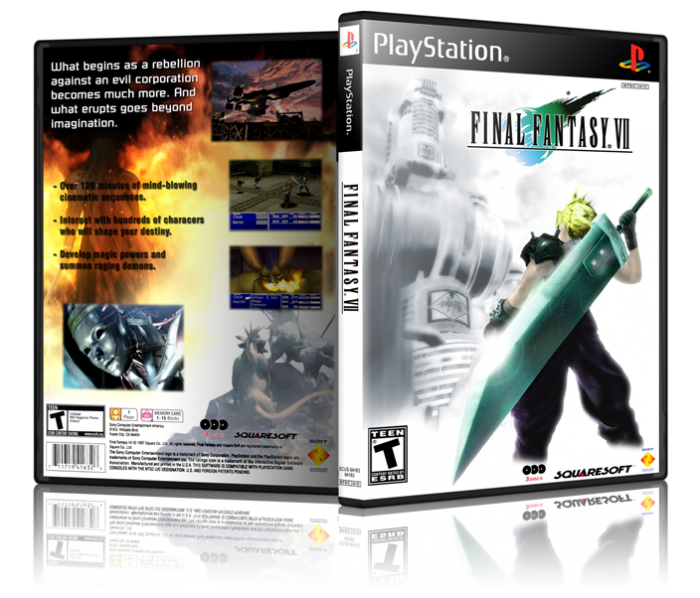 Final Fantasy Vii Playstation Box Art Cover By Tevious
