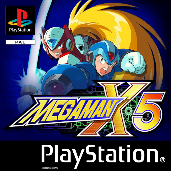 Megaman X5 Playstation Box Art Cover By Devilrobotsx