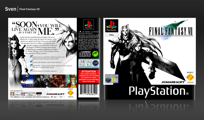 Final Fantasy Vii Playstation Box Art Cover By Sven
