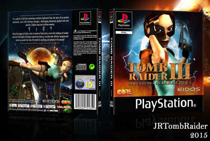 Tomb Raider III box art cover