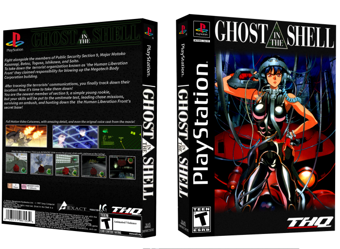 Ghost In The Shell Playstation Box Art Cover By Bobdotexe