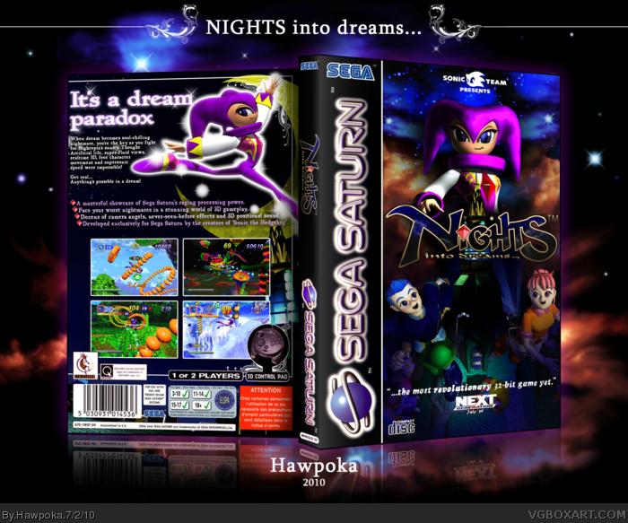 Genesis 38 8 >> NiGHTS into Dreams... Sega Saturn Box Art Cover by Hawpoka