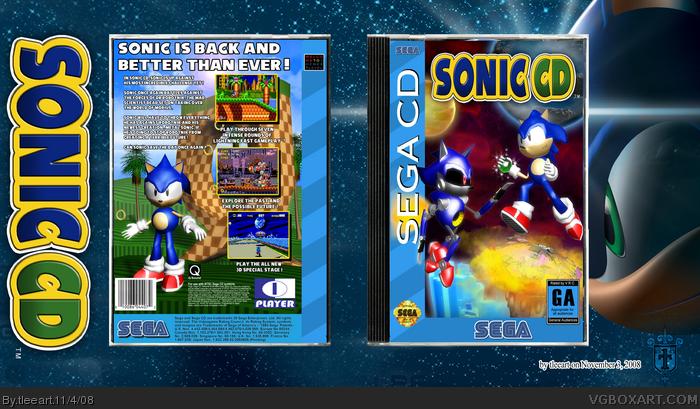Sonic CD Sega CD Box Art Cover by tleeart