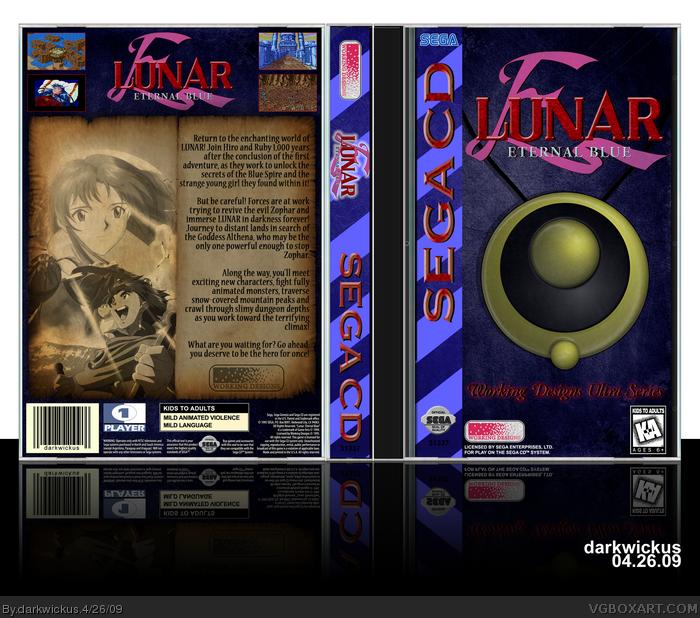 Lunar: Eternal Blue Sega CD Box Art Cover by darkwickus