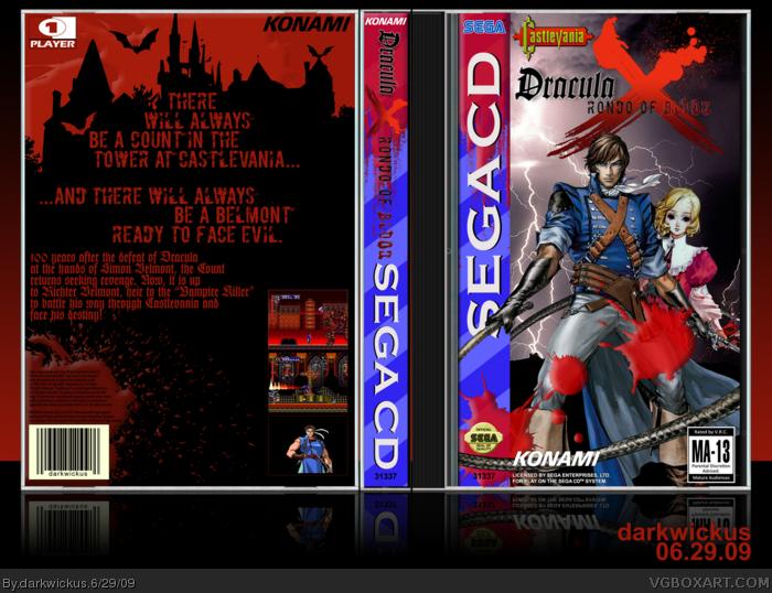 Castlevania Dracula X Rondo Of Blood Sega Cd Box Art