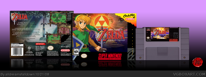 The Legend of Zelda: A Link to the Past SNES Box Art Cover