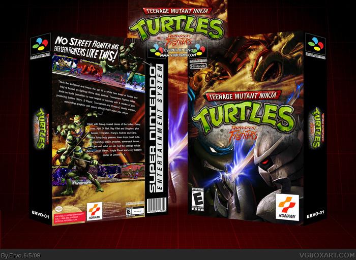 Teenage Mutant Ninja Turtles Tournament Fighters Snes Box