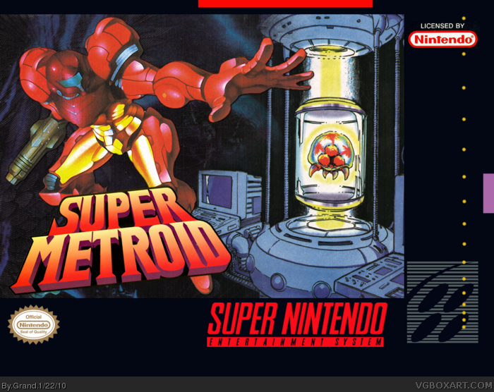 Super Metroid Snes Box Art Cover By Grand
