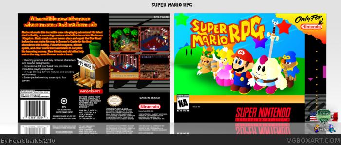 Super Mario RPG SNES Box Art Cover by RoarShark