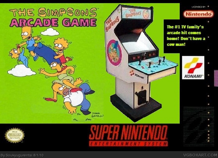 The Simpsons Arcade Game Box