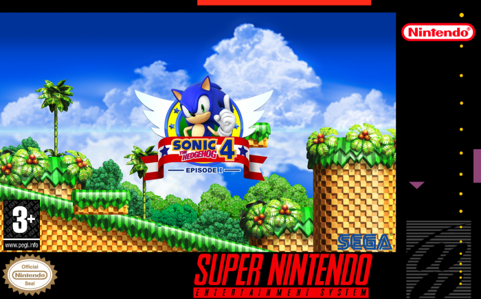 Sonic The Hedgehog 4 Episode 1 Snes Box Art Cover By