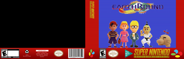 Earthbound box Preview  SNES Box Art Cover by awsomeboy