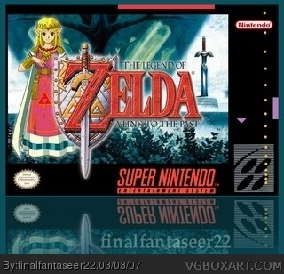 The Legend of Zelda: A Link to the Past SNES Box Art Cover by