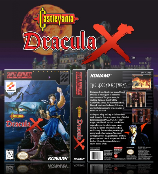 Castlevania Dracula X Snes Box Art Cover By Solid Romi