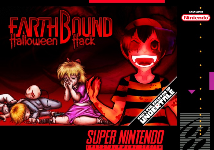 Earthbound: Halloween Hack SNES Box Art Cover by Nick Gipson