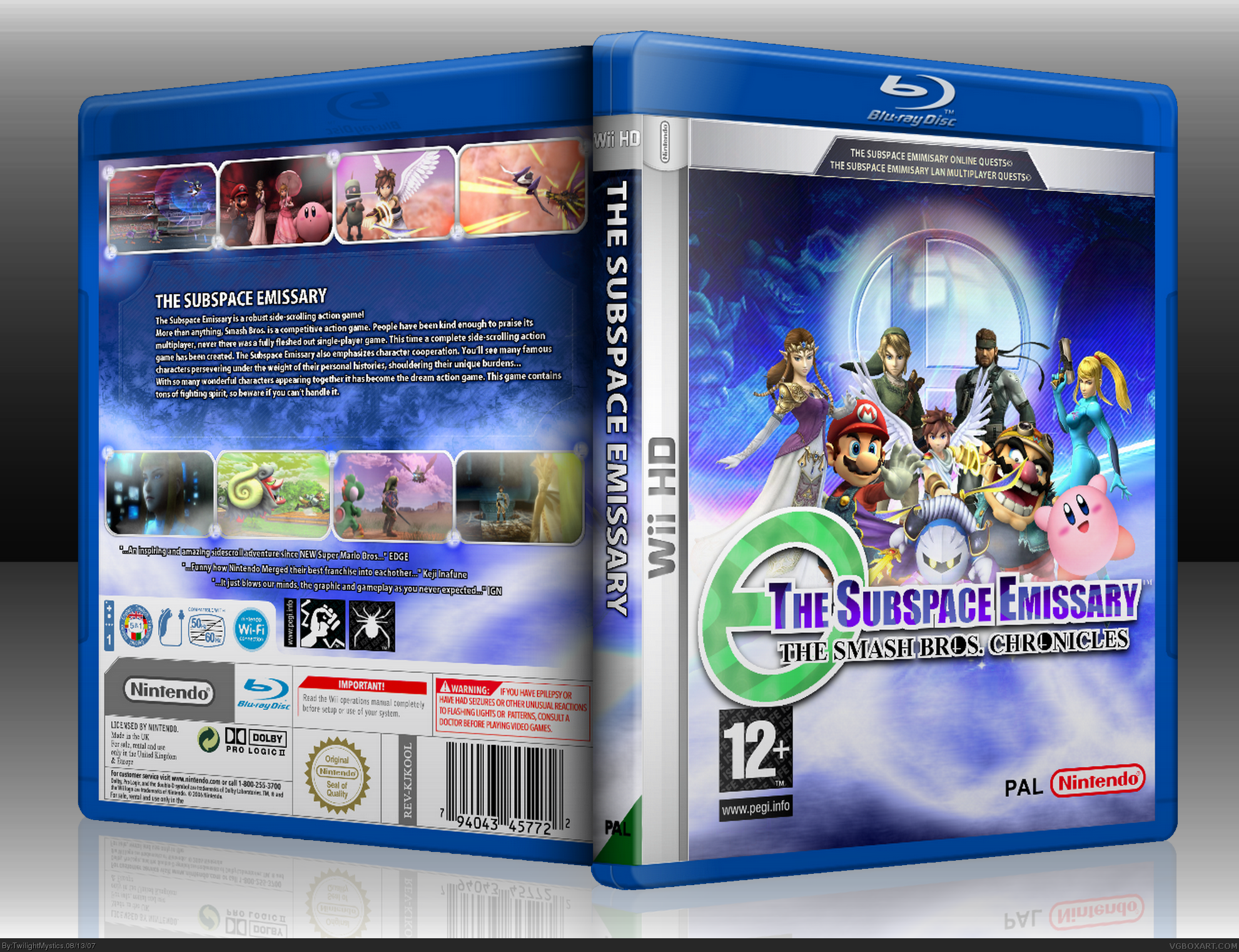 The Subspace Emissary Wiihd Wii Box Art Cover By Twilightmystics