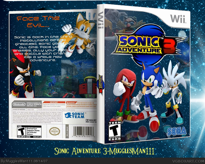 Sonic Adventure 3 box cover