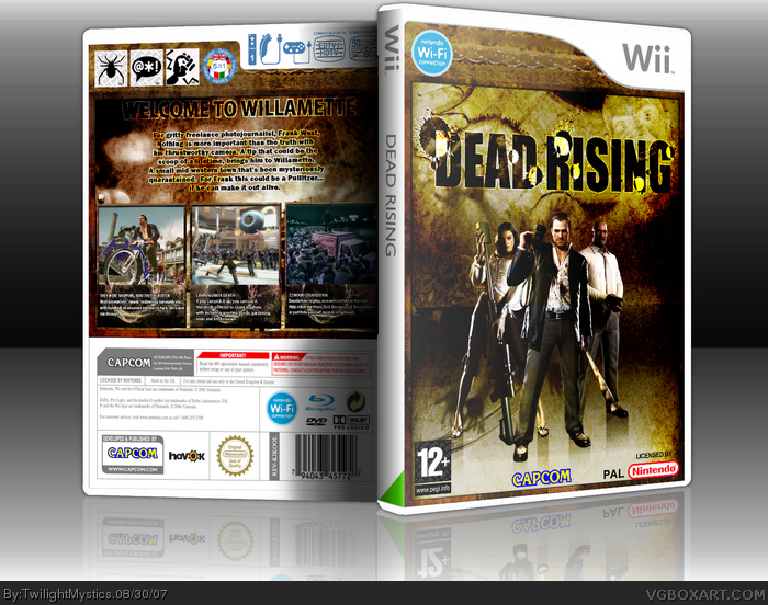 Dead Rising Wii Edition Wii Box Art Cover By Twilightmystics