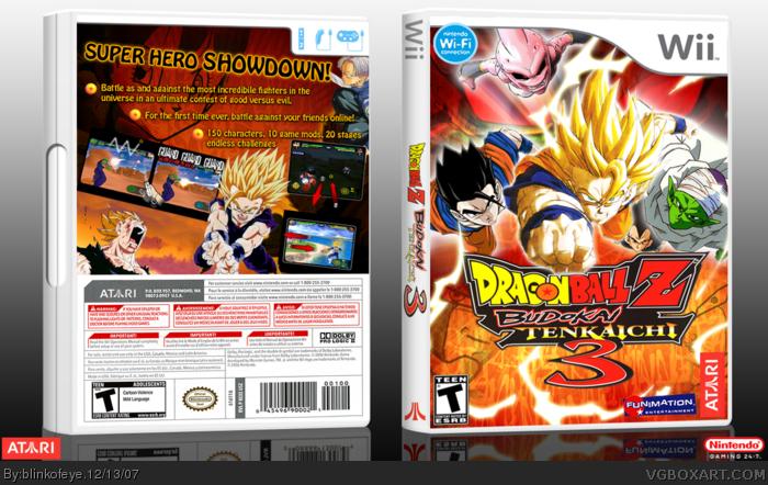 DragonBall Z Budokai Tenkaichi 3 Wii Box Art Cover by blinkofeye