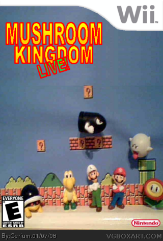 Mushroom Kingdom LIVE! box cover