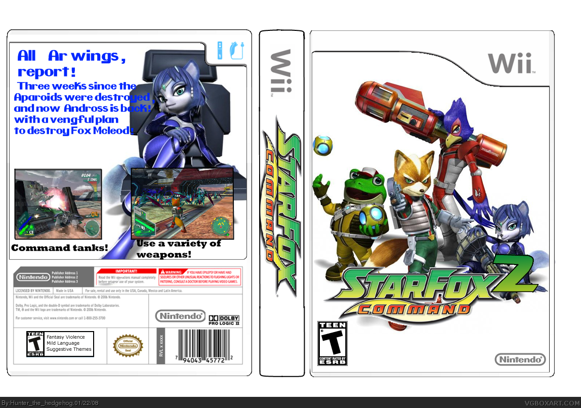 Star Fox Command 2 Wii Box Art Cover By Hunter The Hedgehog