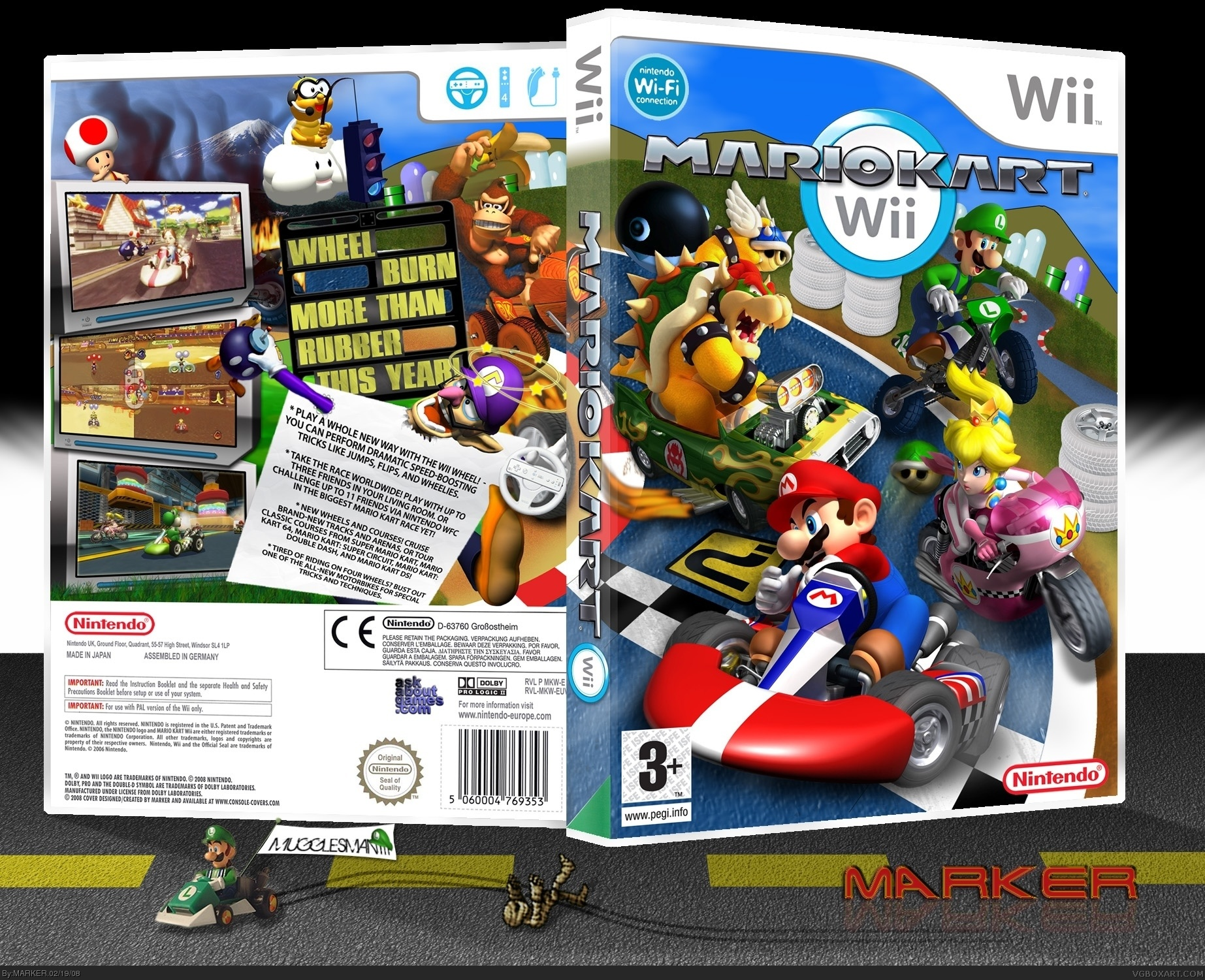 Mario Kart Wii Wii Box Art Cover By Marker