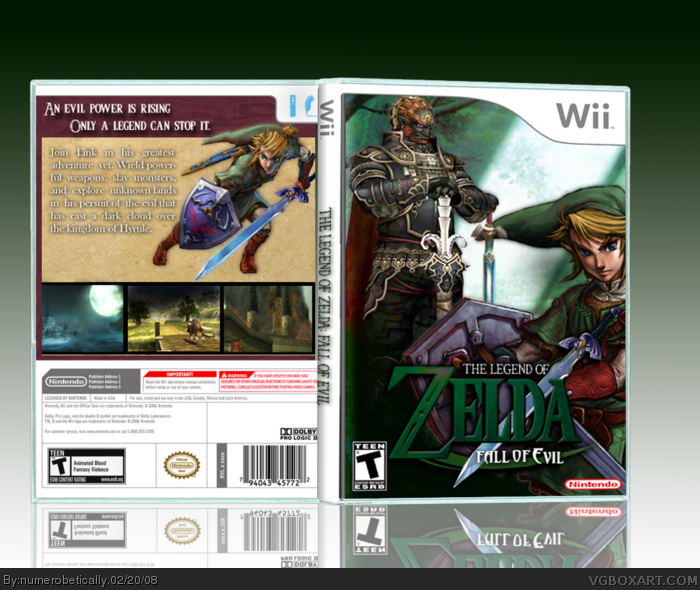 The Legend of Zelda: Fall of Evil box art cover