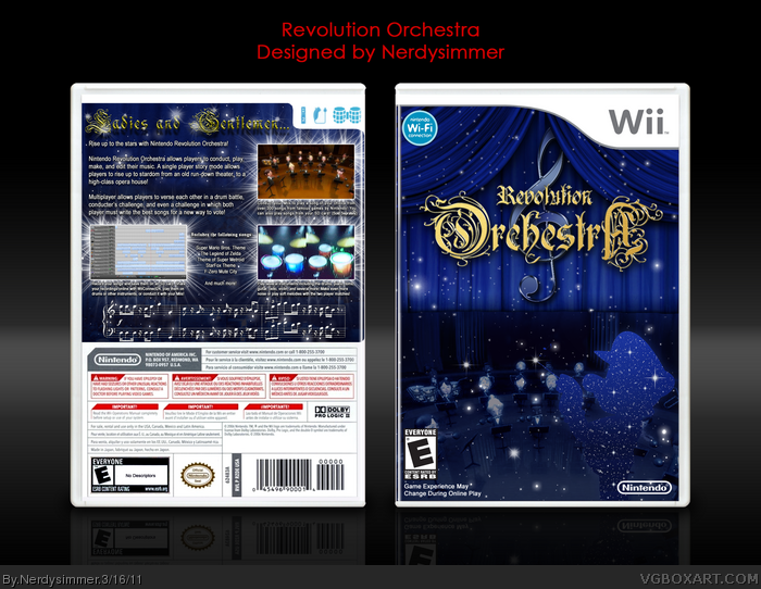 Nintendo Revolution Orchestra box art cover