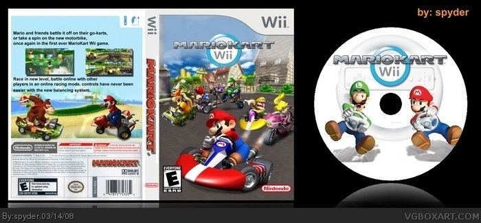 mario kart wii wii box art cover by spyder. Black Bedroom Furniture Sets. Home Design Ideas