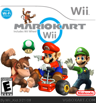 Mario Kart Wii Wii Box Art Cover By Wii Kid