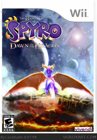 legend of spyro   dawn of the dragon wii box art cover by