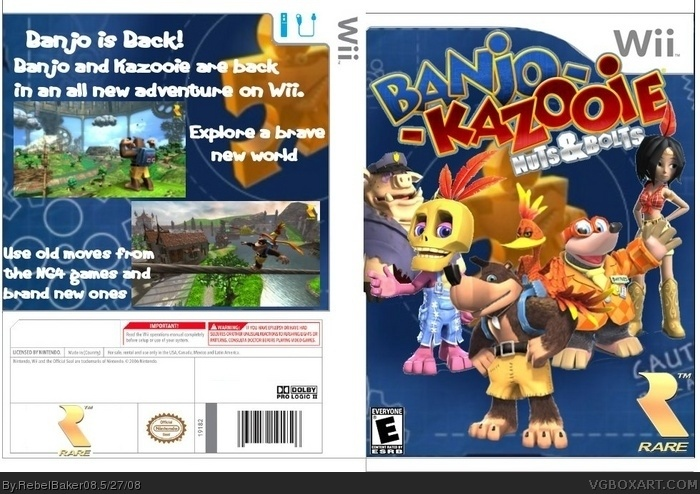 Banjo-Kazooie: Nuts & Bolts Wii Box Art Cover by RebelBaker08