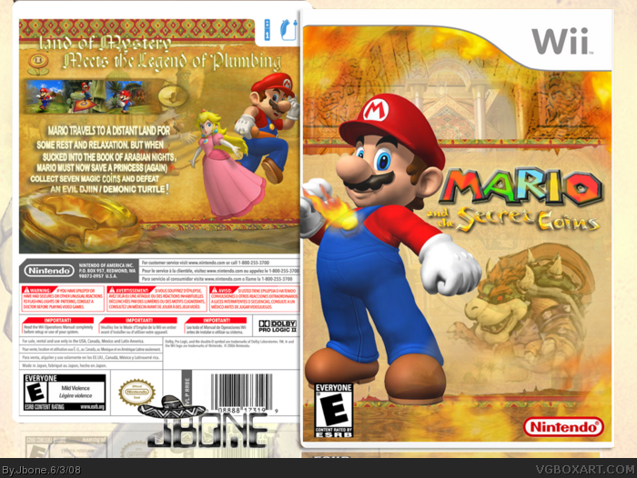 Mario and the Secret Coins box art cover