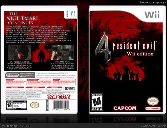 Resident Evil 4 Wii Edition Wii Box Art Cover By Ninjamojo27