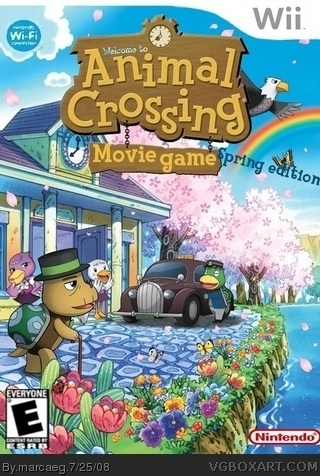 Animal Crossing Movie Game box cover