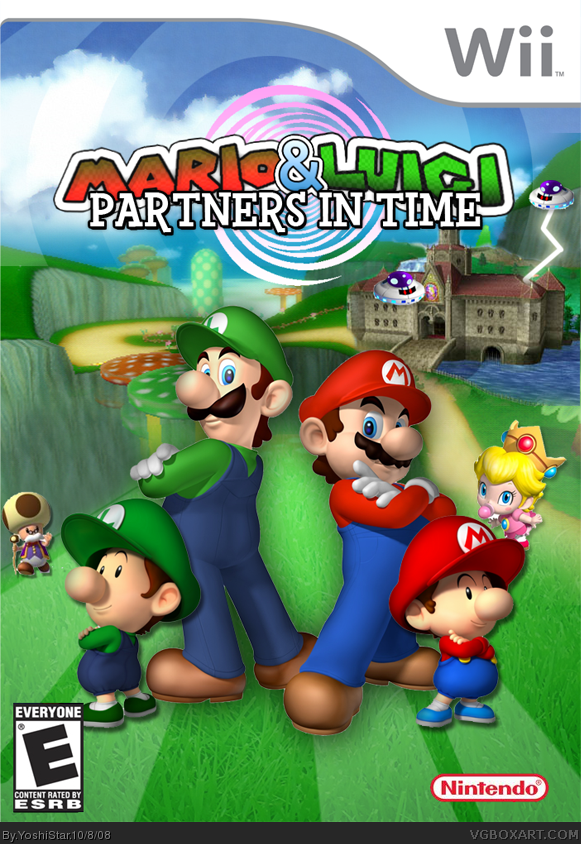 Mario Luigi Partners In Time Wii Box Art Cover By Yoshistar