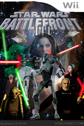 Star Wars Battlefront Iii Wii Box Art Cover By Dooku
