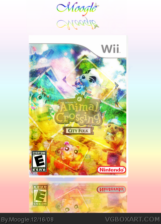 Animal crossing city folk wii box art cover by moogle for Agrandissement maison animal crossing wii