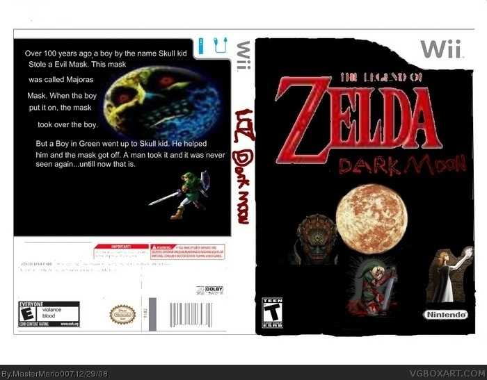 The Legend of Zelda Dark Moon box art cover