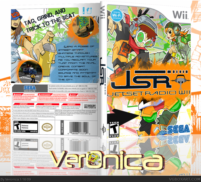 Jet Set Radio Wii Wii Box Art Cover by Veronica