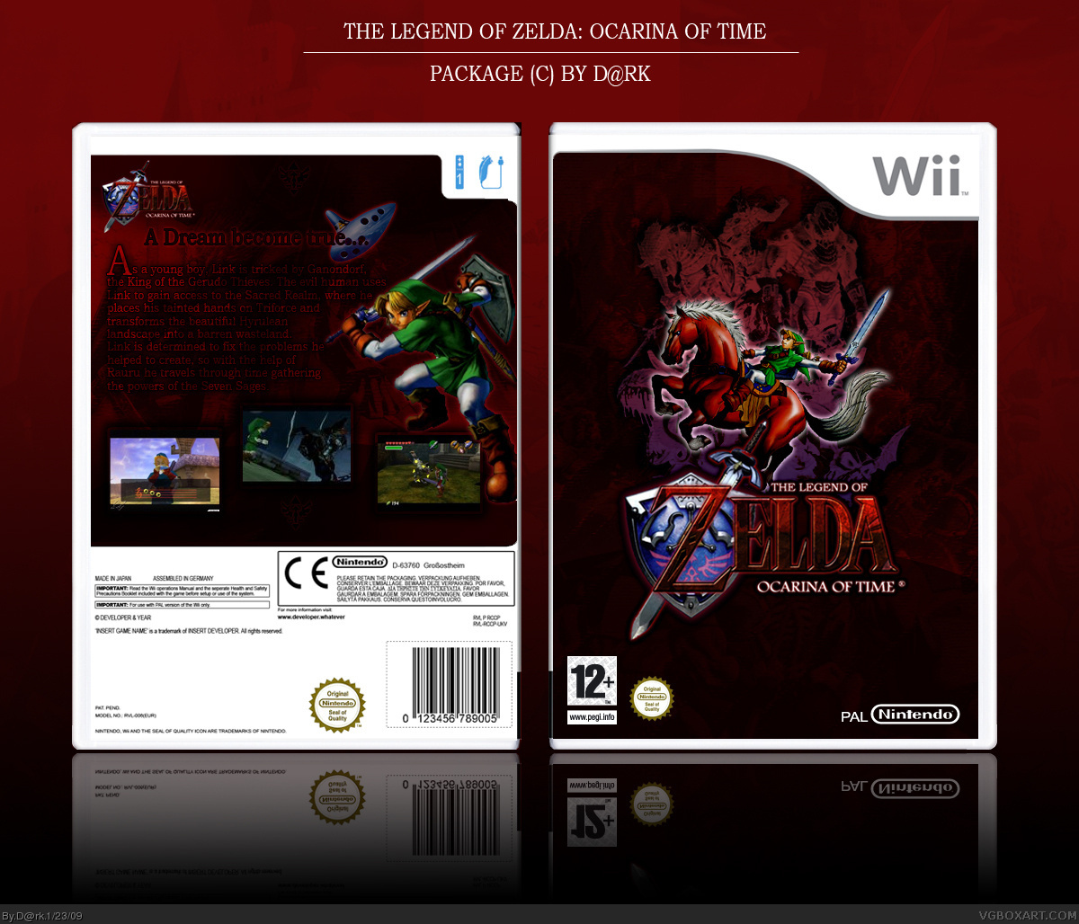The Legend Of Zelda Ocarina Of Time Wii Box Art Cover By D Rk